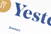 """""""Yesterday"""" Calendar"""